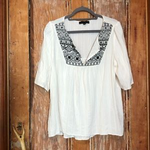 SANCTUARY Gauzy Embroidered summer top